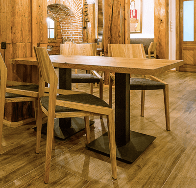 FLAT DOUBLE restaurant table in the industrial style LOFT Decora