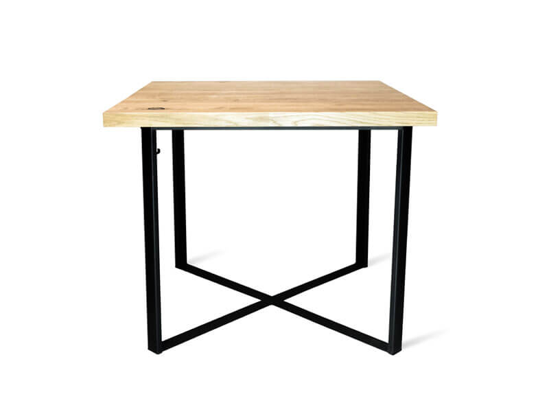 Restaurant table in the industrial style CROSS 80sq