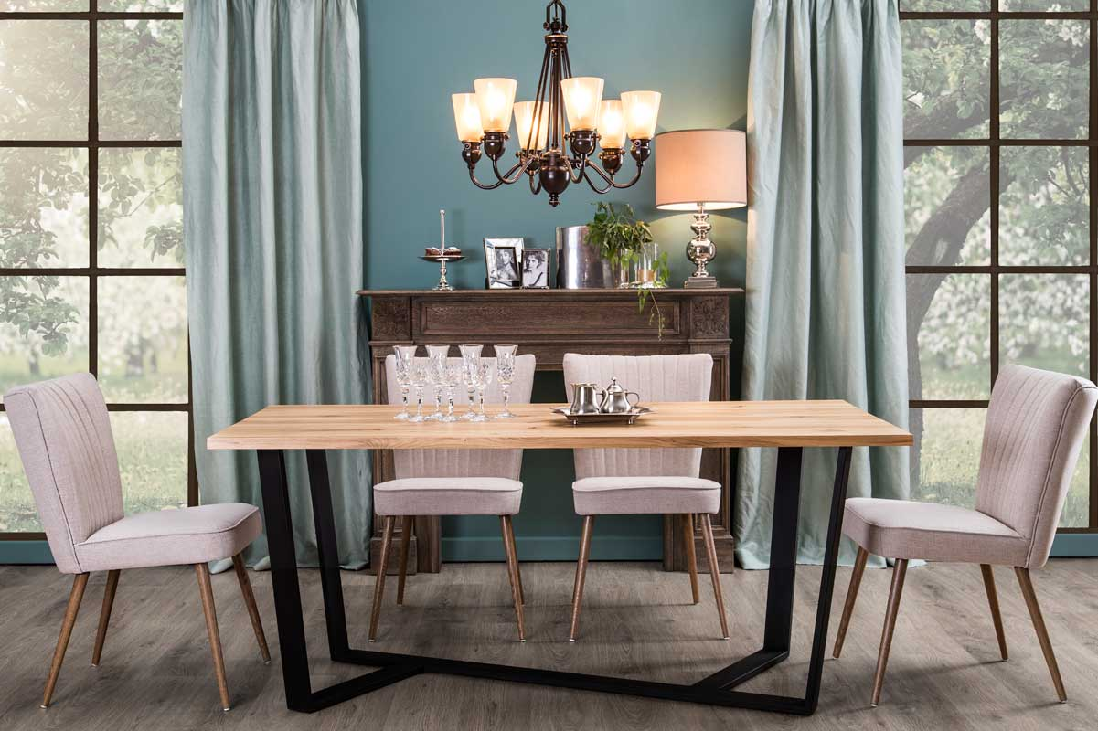 BLACK loft-style dining table