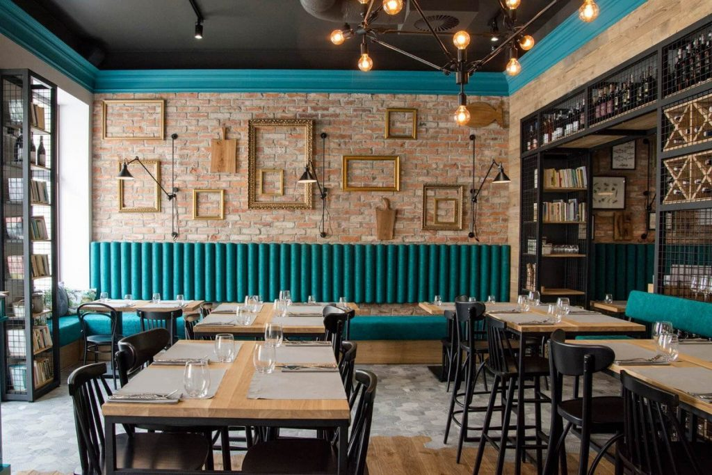 Industrial furniture in a restaurant - our projects