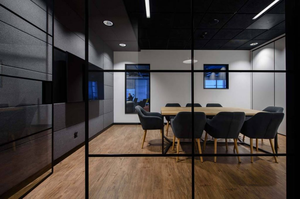 A conference room with a table from LOFT Decora