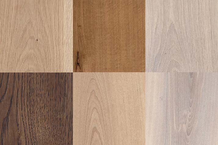 Choosing a shade of wood for production