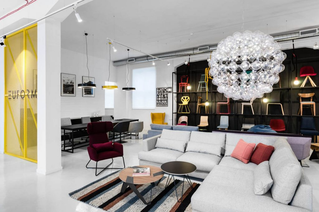 Furniture from LOFT Decora in the Euforma store in Gdansk