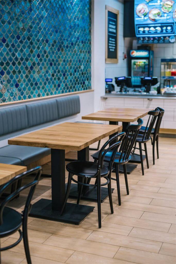 Wooden FLAT tables for restaurants - our projects