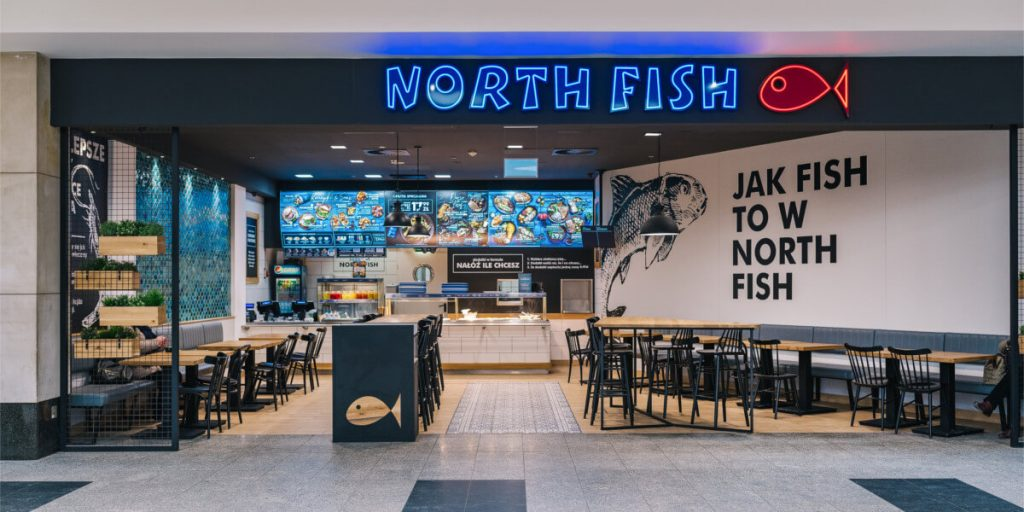 North Fish Krakow - contract realisations LOFT Decora