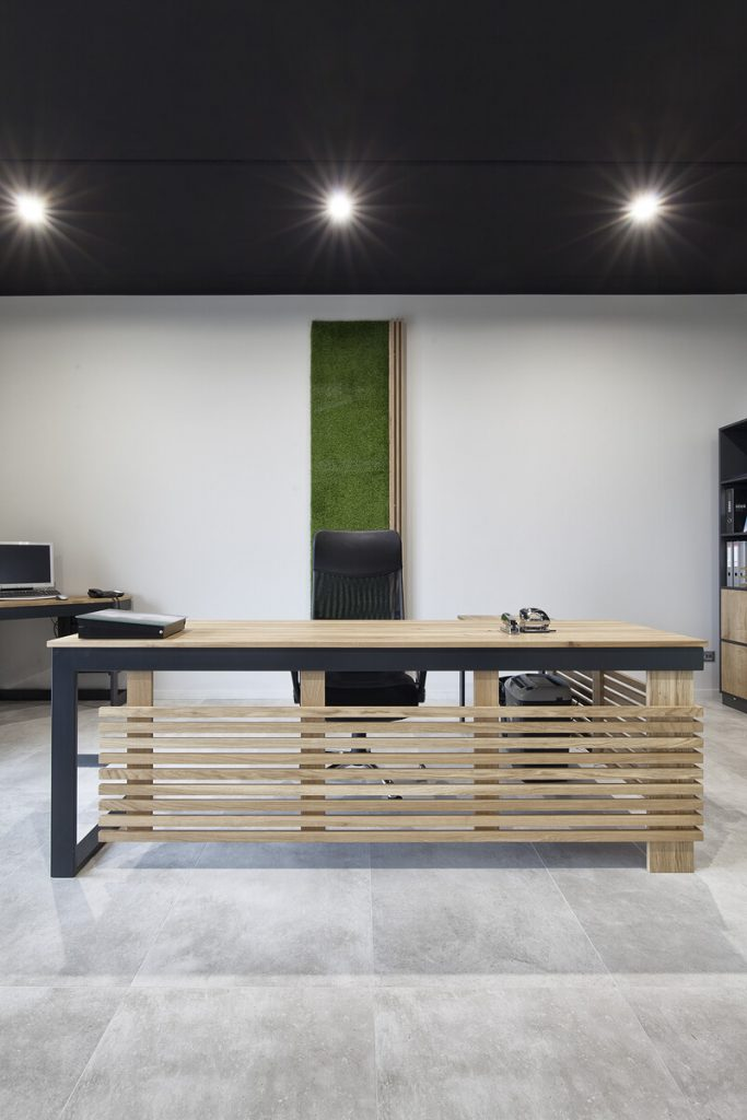Office industrial furniture in the implementation of LOFT Decora