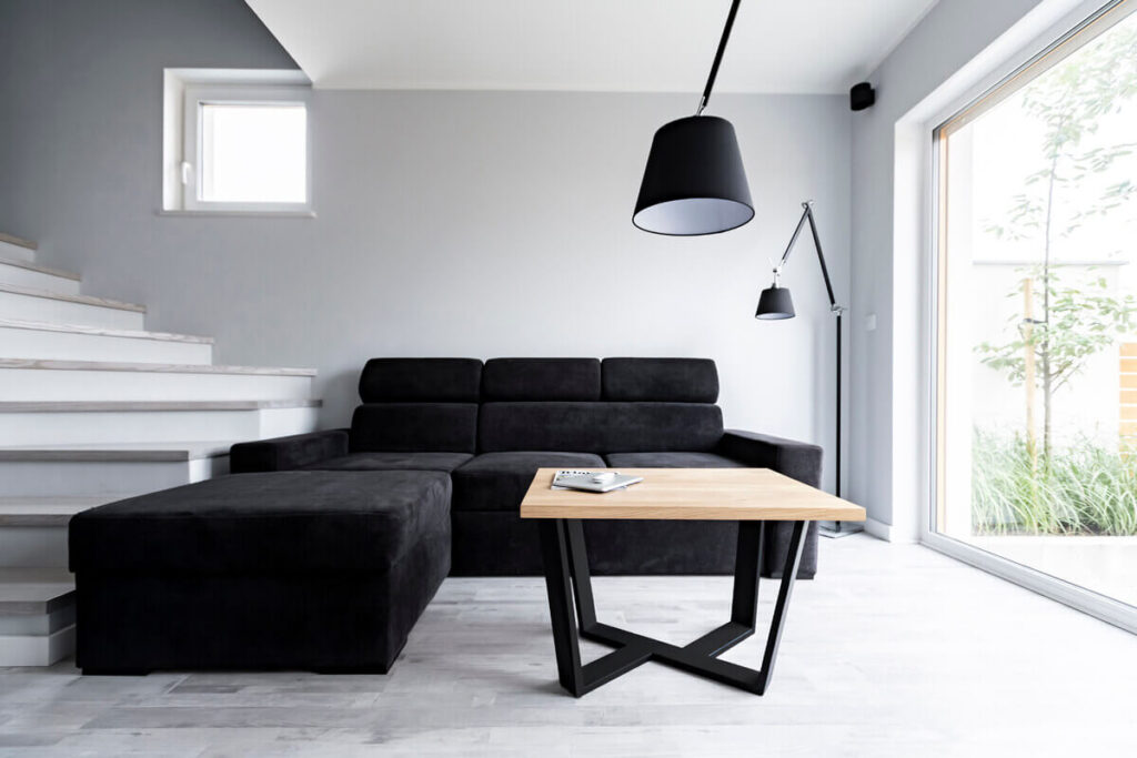 Wooden coffee table LITTLE BLACK in the implementation of LOFT Decora