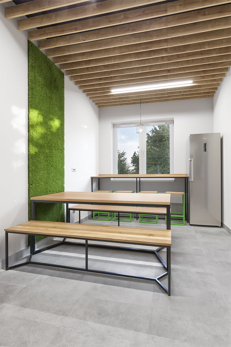 A set of industrial furniture for the office in the implementation of LOFT Decora