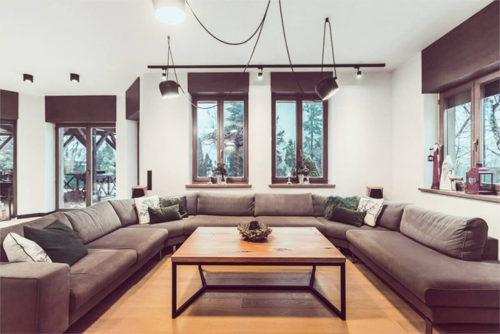 Coffee table in a minimalist style in the implementation of LOFT Decora