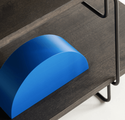 bookholder HALF-OVAL- accessories in loft style