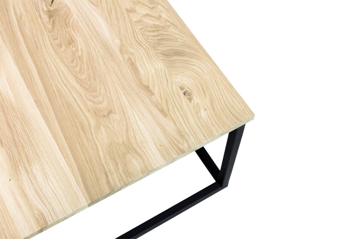 A coffee table in the loft style