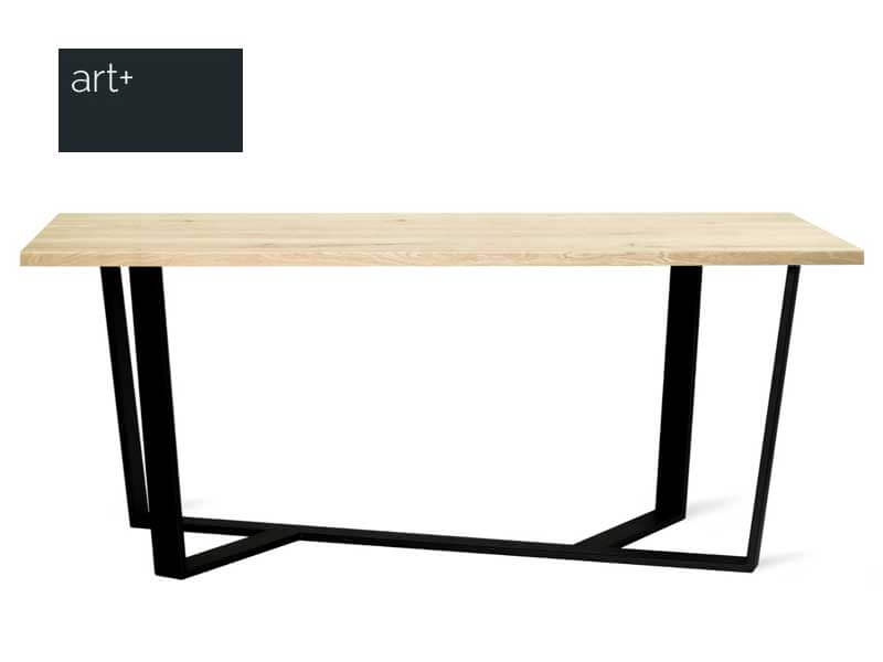 BLACK industrial dining table