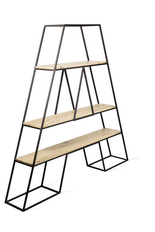 Industrial furniture from LOFT Decora - bookcase for firewood
