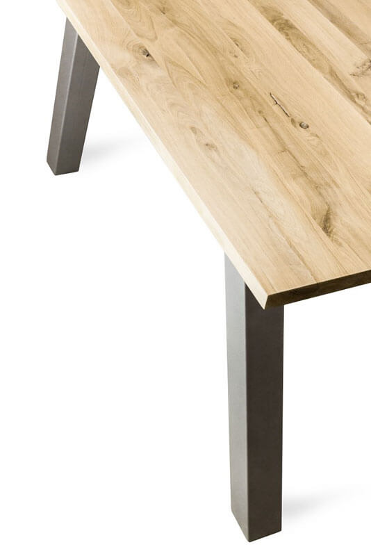 Dining table in industrial style